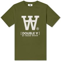 Wood Wood Ace Tee Army Green
