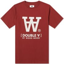 Wood Wood Ace Tee Dark Red