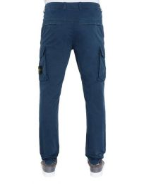 Stone Island Cargo Pants 318WA Old Dye Treatment Marine Blue