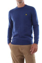 Lyle & Scott Crew Neck Cotton Merino Jumper Indigo