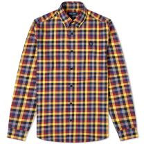 Fred Perry Authentic Multi Check Gingham Shirt Gold