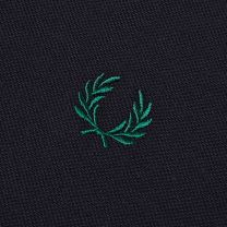 Fred Perry Authentic Slim Fit Twin Tipped Polo Navy & Ivy
