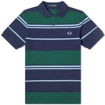 Fred Perry Authentic Striped Polo Carbon Blue