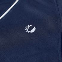 Fred Perry Authentic Taped Track Jacket Carbon Blue