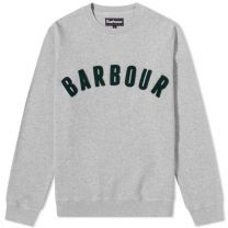 Barbour Prep Logo Crew Sweat Grey Marl