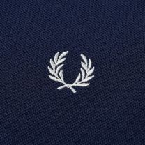 Fred Perry Authentic Long Sleeved Twin Tipped Polo Carbon & Porcelain