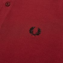 Fred Perry Authentic Long Sleeved Twin Tipped Polo Dark Red