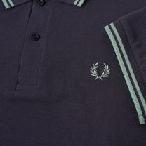 Fred Perry Reissues Original Twin Tipped Polo Navy