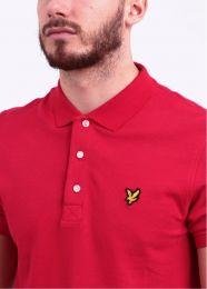Lyle & Scott Plain Polo Shirt Gala Red