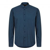 Merc BRIGSLEY GEO PRINT SHIRT Navy