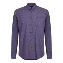 Merc HELMSLEY SMALL PAISLEY SHIRT Purple