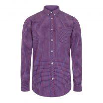 Merc Reigate Check Shirt Red/Blue