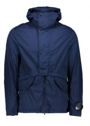 C.P. Company Nycra Lens Sleeve Hooded Jacket Blue