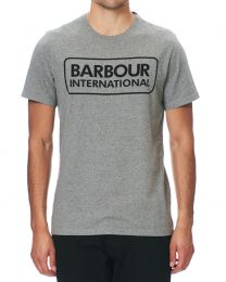 Barbour International Essential Large Logo T-Shirt Anthracite