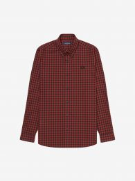 Fred Perry Authentic Button Down Gingham Shirt Port