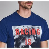 Barbour International Steve McQueen Life T-Shirt Inky Blue