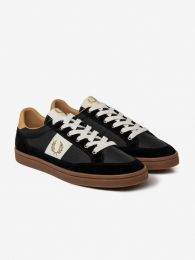 Fred Perry Authentic Deuce Suede Sneaker Black