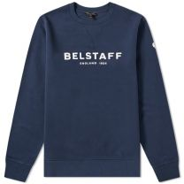 Belstaff 1924 Logo Crew Sweat Navy & Off White