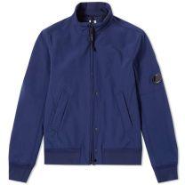 C.P. Company Shell Bomber Jacket Blue
