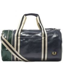 Fred Perry Authentic Colour Block Classic Barrel Bag Navy & Ivy