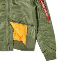 Alpha Industries Hooded MA-1 Jacket Sage Green