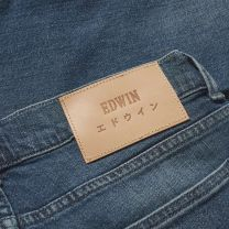 Edwin ED-85 Slim Tapered Drop Crotch CS Red Listed Blue Denim Mission Wash L32