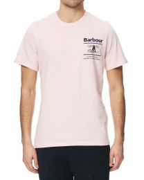 Barbour International Chanonry Print T-Shirt Pink