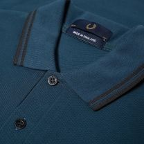 Fred Perry Reissues Original Twin Tipped Polo Petrol