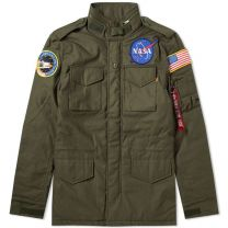Alpha Industries M-65 Heritage NASA Jacket Dark Olive