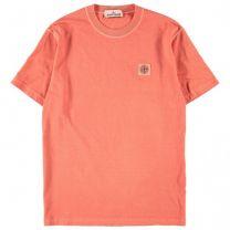 Stone Island 23757 Cotton Jersey Tee Orange Red