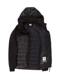 C.P. Shell Mixed Padded Goggle Jacket Black