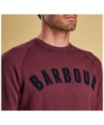 Barbour Prep Logo Crew Mens Sweatshirt Merlot