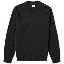 C.P. Company Lambswool Crew Neck Knit Black