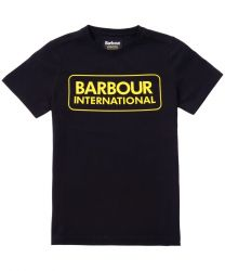 Barbour International Essential Large Logo T-Shirt Black/Yellow