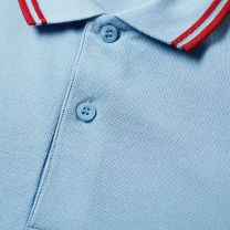 Fred Perry Slim Fit Twin Tipped Polo Sky & Rich Red