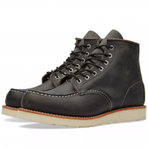 """Red Wing 8890 Heritage Work 6"""" Moc Toe Boot Charcoal Rough & Tough Leather"""