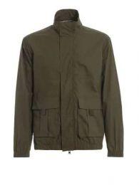 Woolrich Papery Popeline Track Jacket Dark Green
