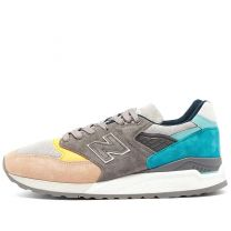 New Balance M998AWB - Made in the USA Grey, Turquoise & Orange