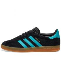 Adidas Gazelle Indoor Black & Aqua EE5732
