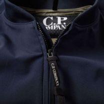 C.P. Company Soft Shell Arm Lens Bomber Jacket Navy