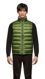 Herno Nylon Ultralight Reversible Bicolor Waiscoat Green