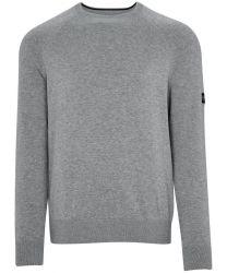 Barbour International Cotton Crew Neck Sweater Grey
