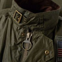 Barbour International Steve McQueen Joshua Wax Jacket Archive Olive