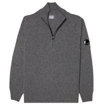 C.P Company Lambswool 1/4 Zip Knitsweater Grey