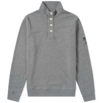 Barbour International Steve McQueen Wrench Half Button Sweat Grey Marl