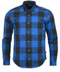 Barbour International Bold Gingham Shirt Charcoal