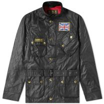 Barbour International Union Jack Jacket Black