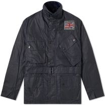Barbour International Steve McQueen Joshua Wax Jacket Navy