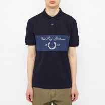 Fred Perry Authentic Archive Branding Polo Navy