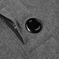 C.P. Company Lambswool Crew Neck Knit Grey